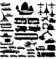 transportation silhouette vector image