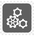 Gears Rounded Square Button vector image