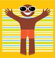 happy summer vector image