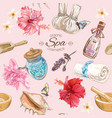 Tropic style spa pattern vector image