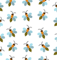 Bees seamless texture Bees background wallpaper vector image