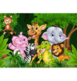 Cute animal africa in the jungle vector image