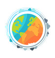 earth planet globe icon vector image