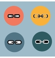 Links set Flat design Retro vintage colors vector image