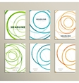 Six pattern with abstract circle brochures vector image
