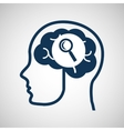 social media concept head and brain media search vector image
