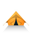 tent cartoon on the white white background vector image