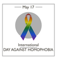International Day Against Homophobia vector image