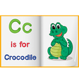 A picture of a crocodile in a book vector image vector image