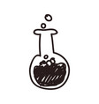 test tube doodle vector image