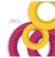 Creative abstract circle pattern vector image