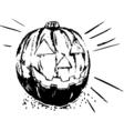 pumpkin design vector image vector image