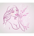 smile cosmetic floral vector image vector image