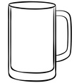 Empty glass vector image vector image