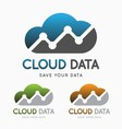 Cloud data technology logo concept vector image vector image