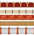 Fence Seamless Border Set vector image