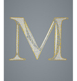 Abstract golden letter M vector image