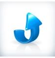 Blue up arrow vector image