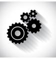Cogwheels gears vector image