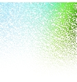 Halftone Colorful Lights Falling Dots pattern on vector image
