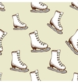 Seamless pattern with racing skates vector image