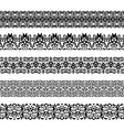 Set of repeating borders vector image