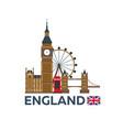 travel to england london skyline big ban vector image