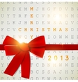 Holiday banner with red ribbons background 2013 vector image