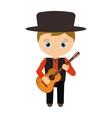 Spanish flamenco man avatar vector image