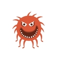 Round Red Hairy Aggressive Malignant Bacteria vector image