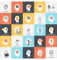 Thinking and Brain Activity vector image