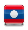 Metal icon of Laos vector image vector image