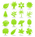 icons of plant vector image