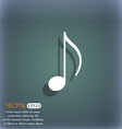 musical note music ringtone icon symbol on the vector image