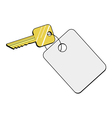 key of hotel vector image
