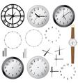 clock elements vector image
