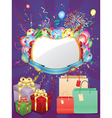 Colorful Shopping Background3 vector image