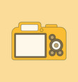 flat icon on background camera vector image
