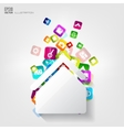 House icon Application buttonSocial mediaCloud vector image