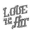 Love ia in the Air hand lettering vector image