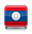 Metal icon of Laos vector image