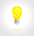 Modern lamp bulb symbol concept vector image