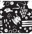 seamless trendy modern brush stokes spots vector image