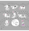 Sticker with cute cartoon dogs vector image