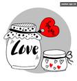 valentine jars vector image