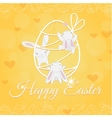 white Easter Bunny welcome and climber vector image