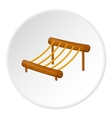 Childrens rope ladder icon cartoon style vector image