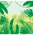 Jungle Flat Background vector image
