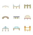Urban construction icons set cartoon style vector image