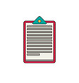 medical note flat vector image